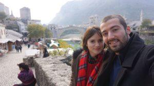 Bosna Hersek Mostar Köprüsüne Gidiş