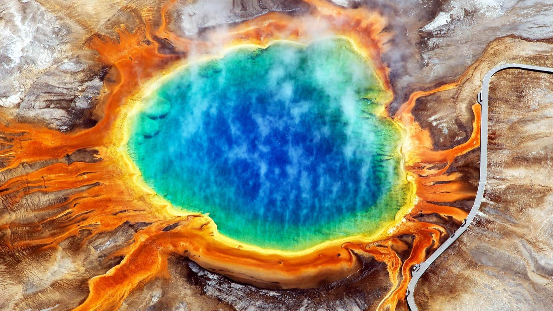 Grand Prismatic Kaplıcası, Wyoming, ABD