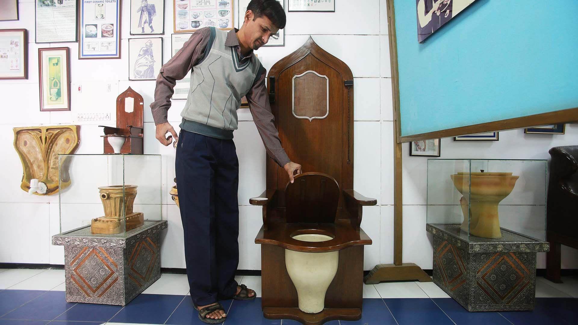 Sulabh Uluslararası Tuvalet Müzesi, Delhi, Hindistan