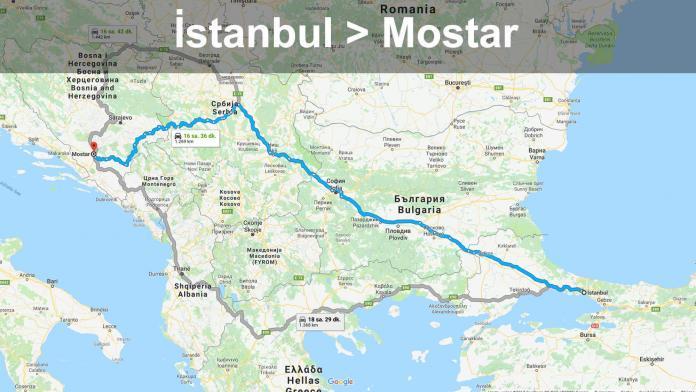 Özel Araçla Mostar'a Yol Tarifi