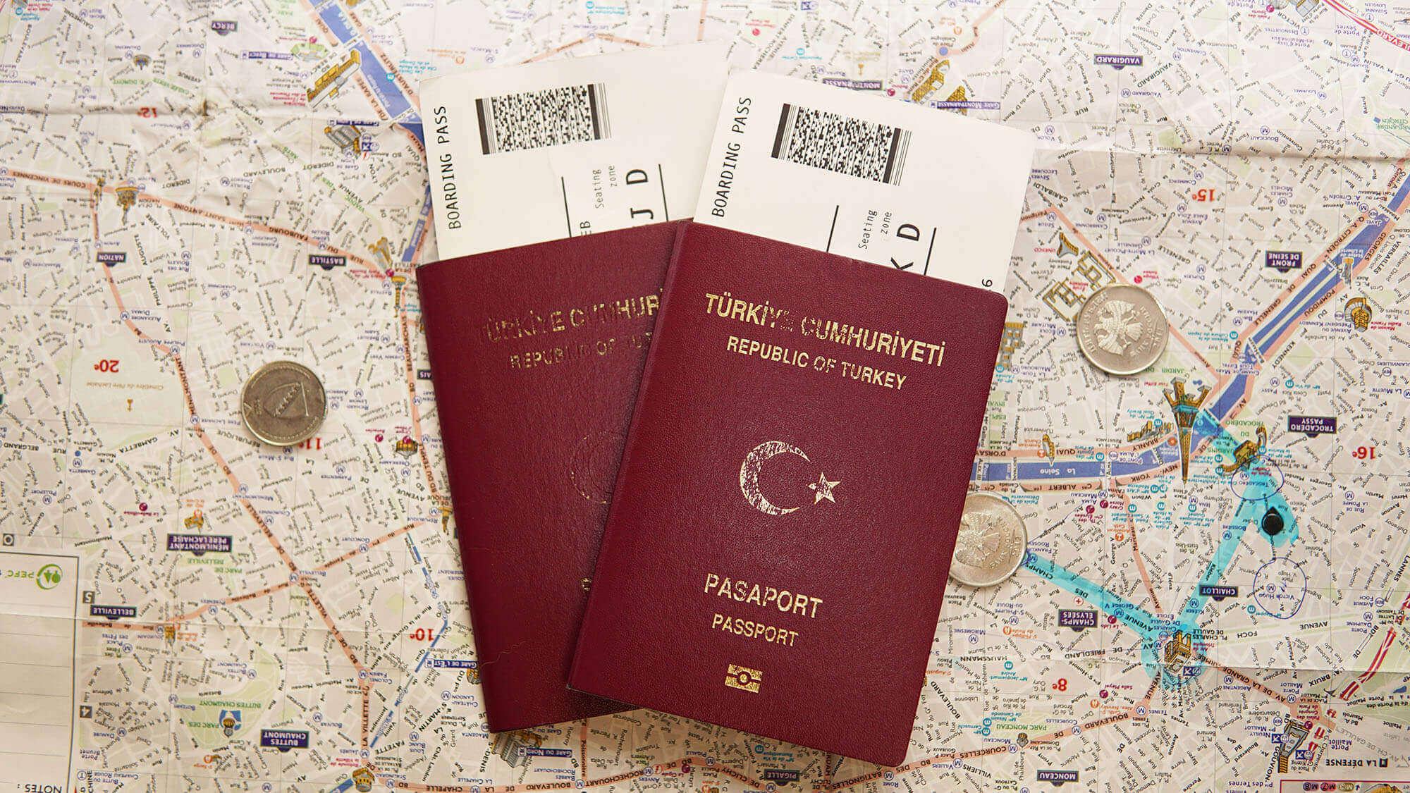 Pasaport Harita ve Uçak Bileti