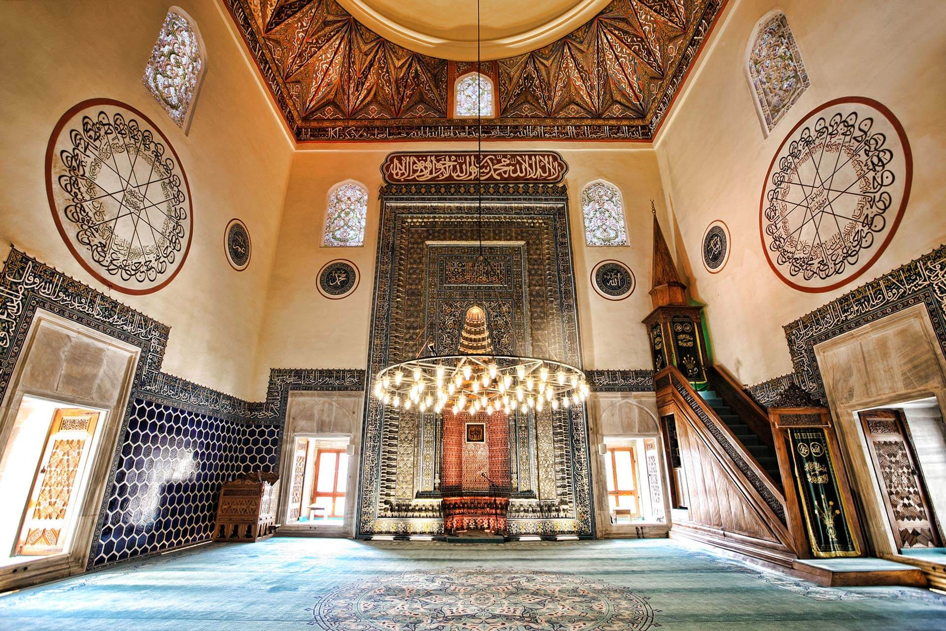 Bursa Yeşil Cami İç Mimarisi