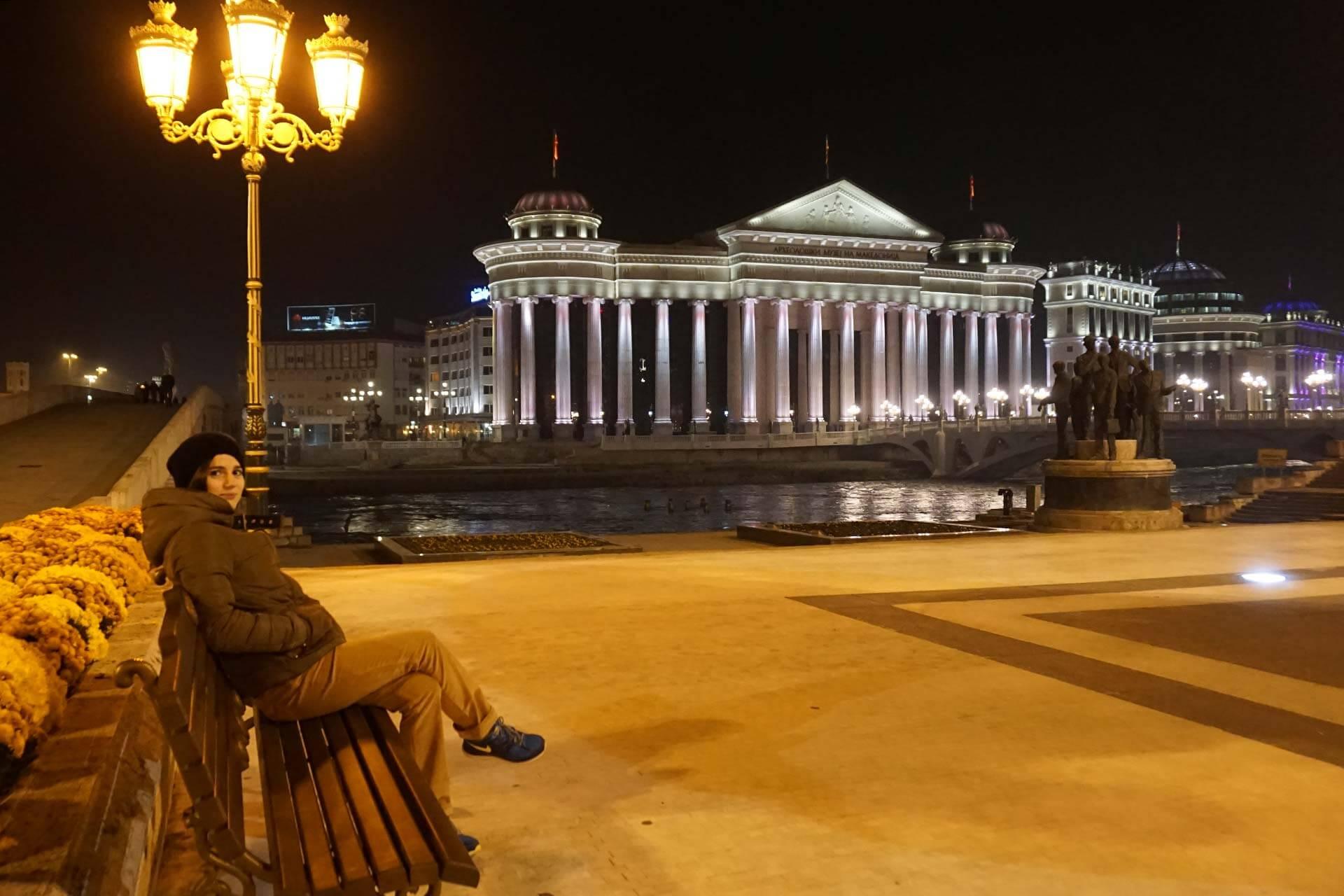 Makedonya Arkeoloji Müzesi Gece Çekim